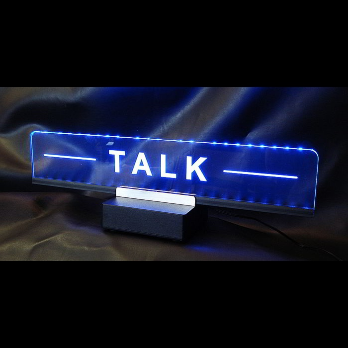 Talk sign for studio comm