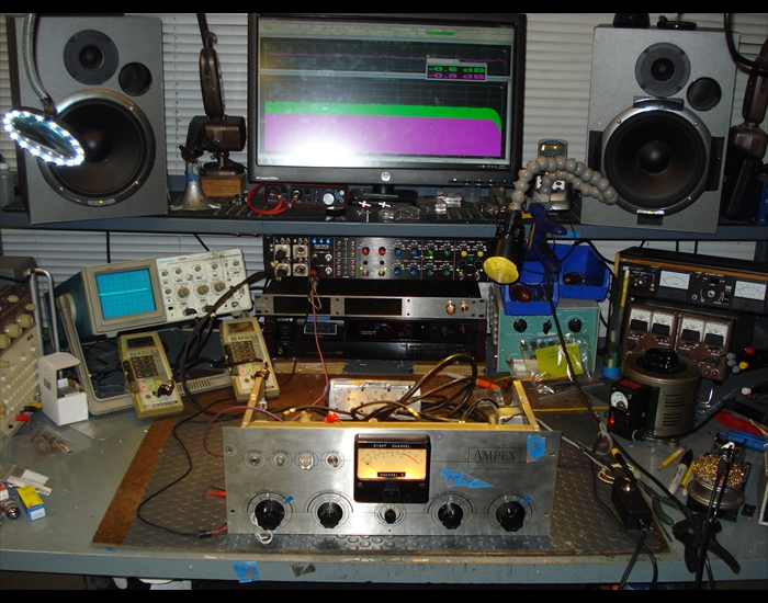 Repair of Tape Recorder channel on bench