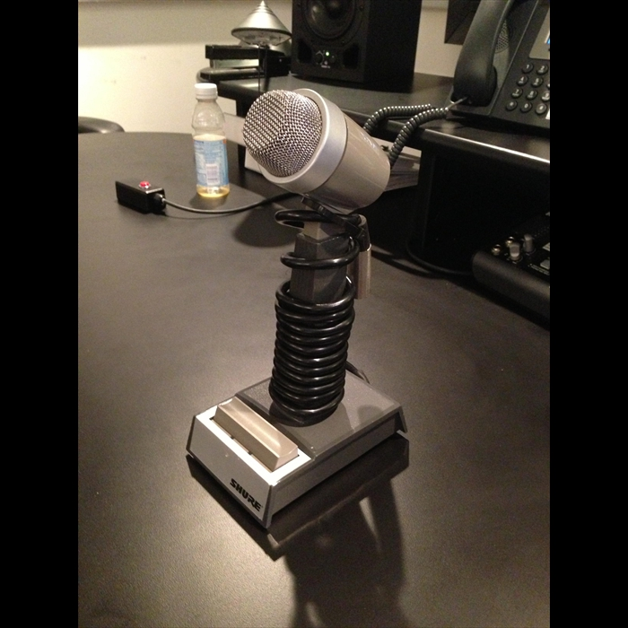Shure press to talk mic