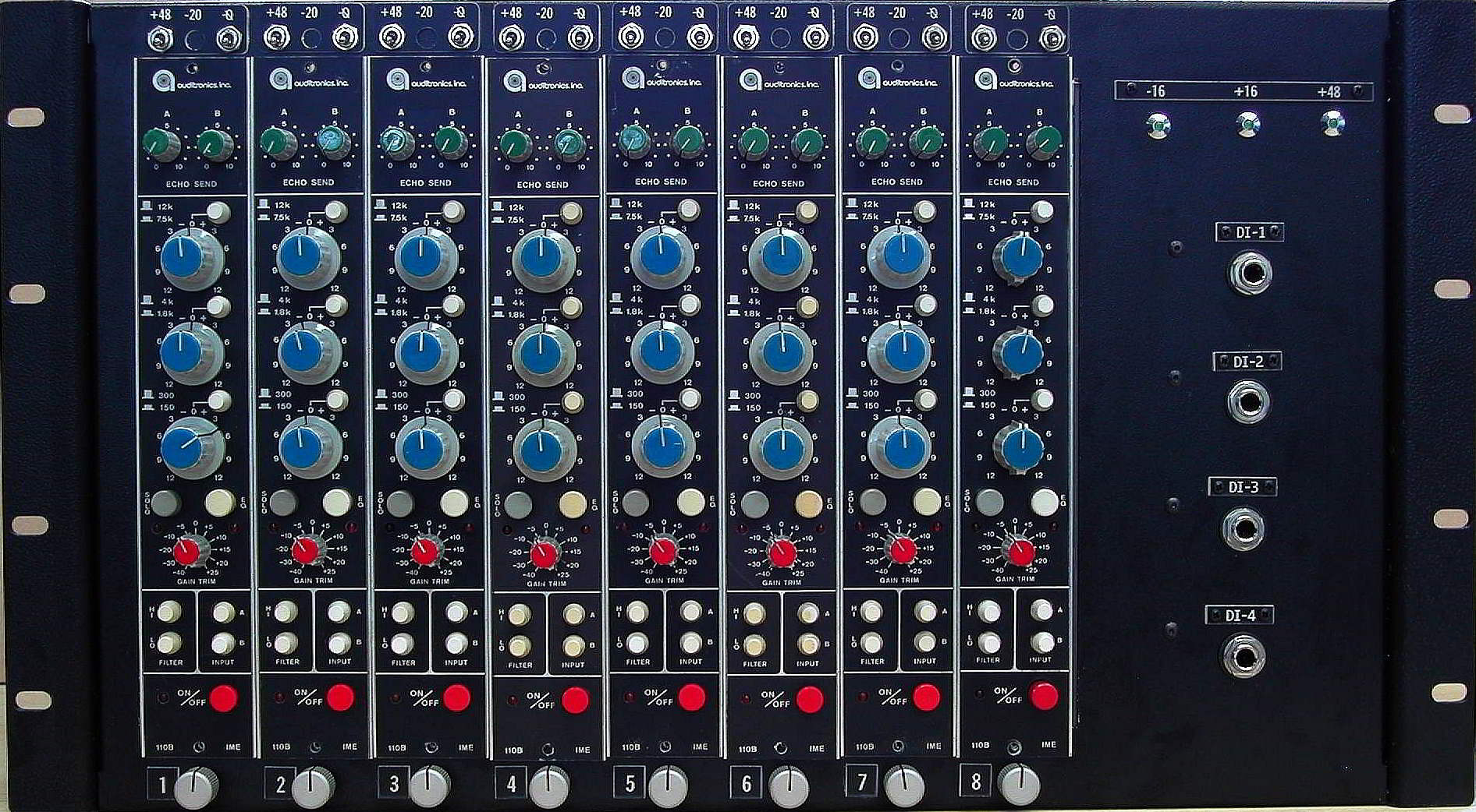Auditronics IME-110 rack of 8