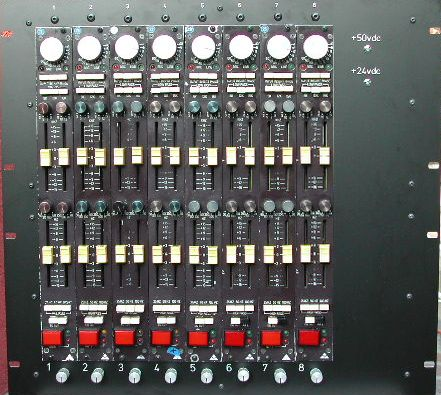 Trident A Range modules, rack of 8