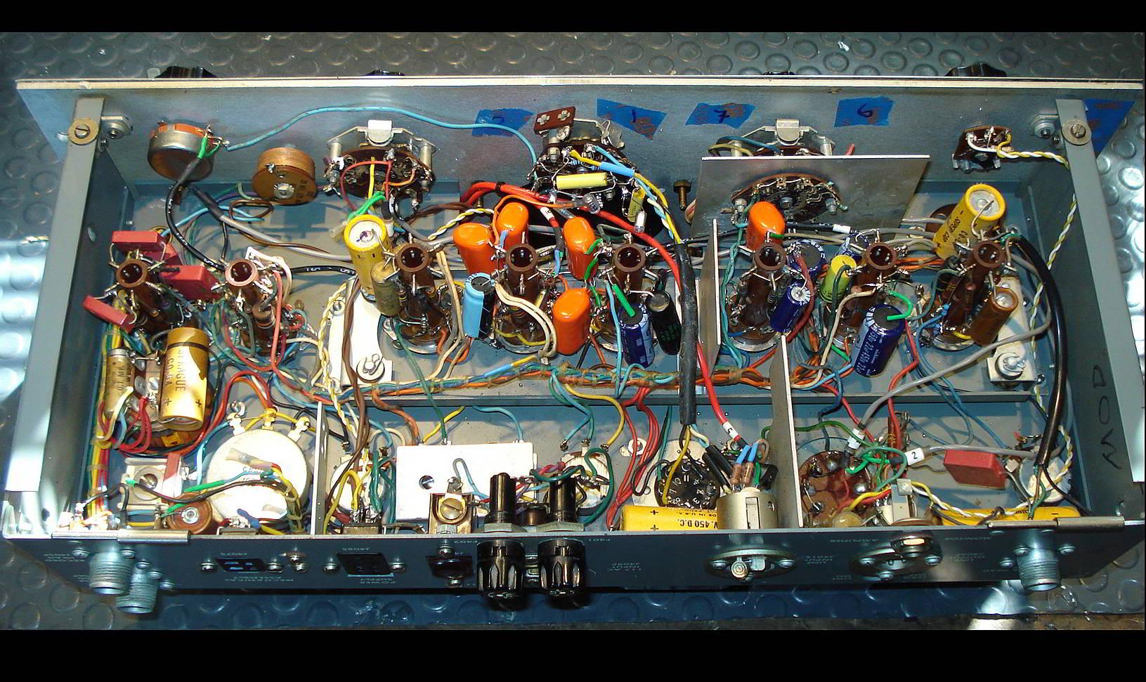 Ampex 350 mod inside