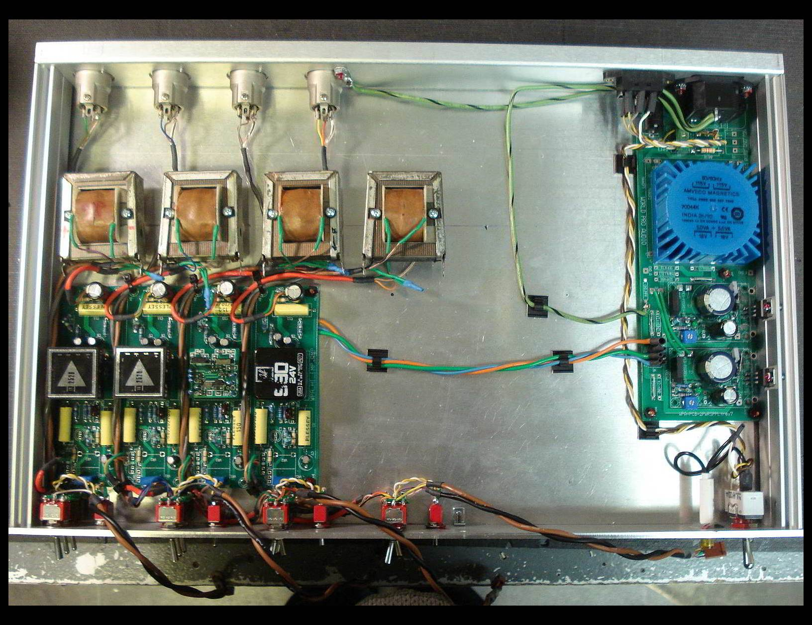 Ampex AM10 Direct Out Mod Extension Chassis inside view